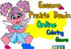 Sesame Prairie Dawn онлайн раскраска