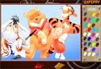 Shy Pooh онлайн раскраска
