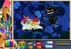 Spooky Cat онлайн раскраска