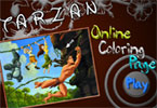 Tarzan онлайн раскраска