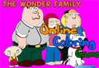 The Wonder Family   онлайн раскраска