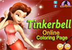 Tinkerbell онлайн раскраска