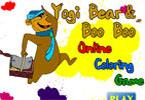 Yogi медведь   онлайн раскраска